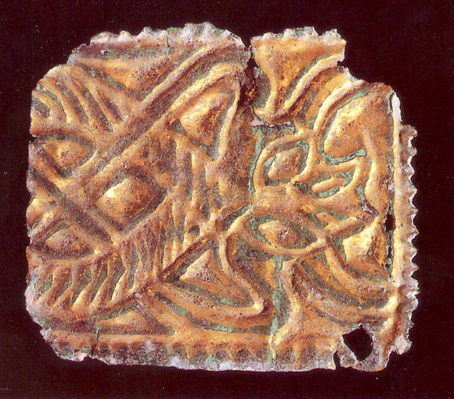 Karolingischer Buchbeschlag, gefunden auf dem Christenberg