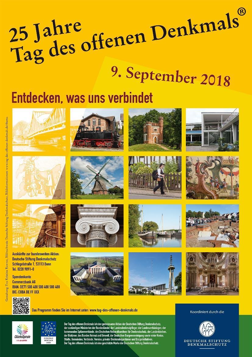 Tag des offenen Denkmals am 9. September 2018